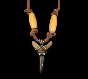 Authentic Megalodon shark tooth necklace for sale | Buried Treasure Fossils